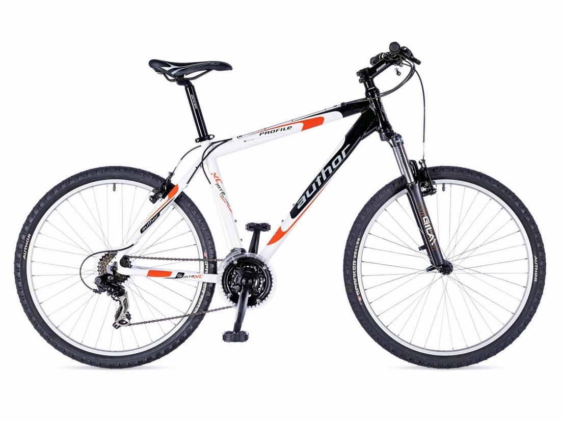 Велосипед Profile II 26, цвет-бело-оранжевый-черный , рама 19